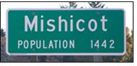 Mishicot road sign